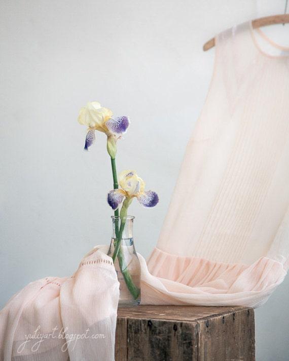 Iris Dream romantic photography nursery decor gift for her dreamy art flower photo floral print bridal shower pastels cream naturals shabby