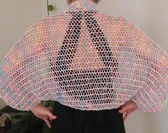 Hand Knitted Spring Summer Shrug Vest Bolero