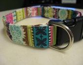 Striped Damask Print Collars: Special Listing for britdmart