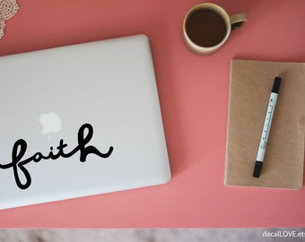 faith small laptop decal