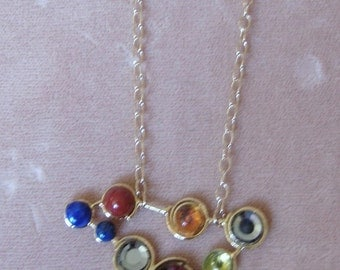 Color palette....One of the kind necklace