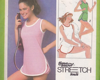 "Simplicity 8461 Pullover Dress and Bloomers, Top and Shorts Pattern, UNCUT, Size 8-10-12, Bust 31 1/2"" to 34"""