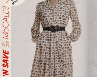 McCall's 4390 Misses' Dress Pattern, UNCUT, Size 10-12-14