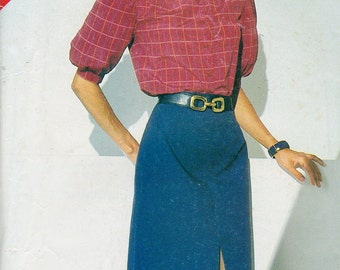 See and Sew 5116,Size 14-16-18, Misses' Blouse and Skirt Pattern, UNCUT, Vintage Pattern, Retro, Front Slit Skirt, Career Wear