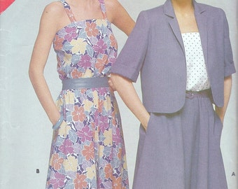 Butterick See & Sew 5288 Misses' Jacket and Dress Pattern, UNCUT, Size 12-14-16