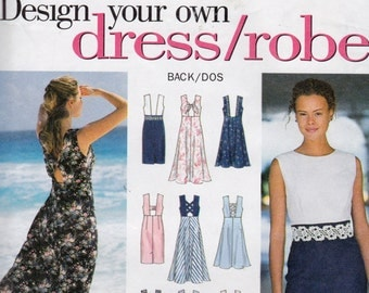 Simplicity 9107 Misses' Dress Pattern, UNCUT, Size 6-8-10, Design Your Own Dress
