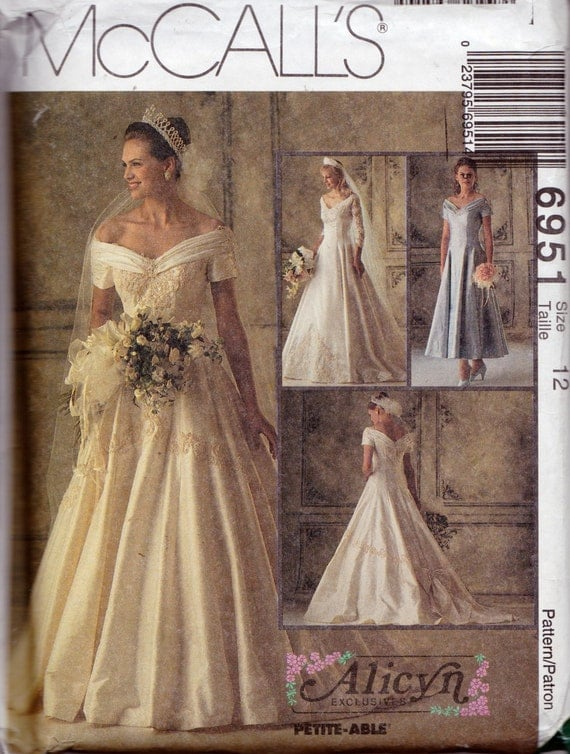 McCall's 6951 Misses' Bridal Gowns and Bridesmaids' Dress Pattern, UNCUT, Size 12