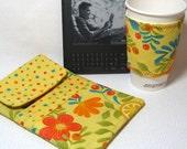 ebook ereader Cover Kindle 3 ereader sleeve PLUS Coffee Cozy