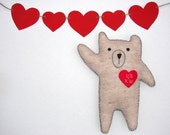 Personalized heart bear embroidered with your initials