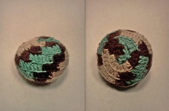 Handmade Hacky Sack / Footbag Native Seattle Grunge Inspired / Aqueduct Earth, Wind & Water (Animal Cruelty-Free)