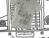 SF Landmark American Apparel T Shirt (Heather Grey: S, M, L and XL)