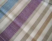 Linen Cotton fabric cloth multiColor Striped Medium Weight ECO-friendly - custom yardage