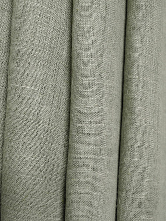Reserved Listing for Aisia  Natural Linen fabric gray Ecru W 59 inch Medium Weight Eco-friendly - 3 yards