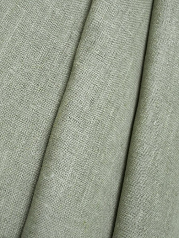 Natural Linen Fabric Gray Grey Undyed Unbleached W 59 inch Medium Weight Eco-friendly - last more 1-3/4 yard