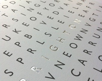 Brighton Word Search - limited edition silkscreen print
