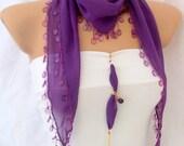 Bracelet gift- spring summer magenta scarf