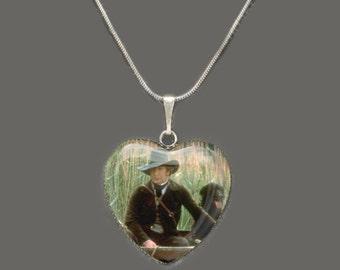 Sense & Sensibility Glass Heart Pendant