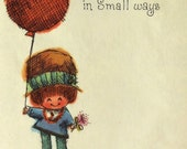 Mother's Day Card. Made from a Vintage card. A Big Balloon...