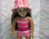 Swimsuit and Sunhat for American Girl Doll