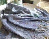 Handwoven Cotton Shawl -Rainbow3