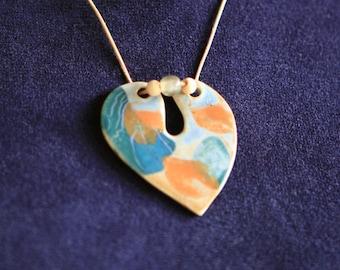 One of a Kind porcelain Necklace ...
