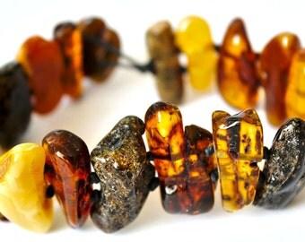 Multicolor Baltic Amber Bracelet