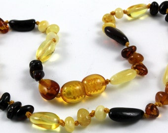 Baltic Amber Baby Teething Multicolored Necklace