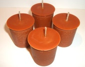 Pumpkin Pie Scented Soy Votive Candles Set of 4