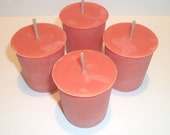 Peach Scented Soy Votive Candles Set of 4