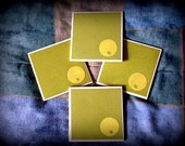 """Ceramic Coasters - Set of 4 - Green """"Little Bird"""" - Makes a Great Gift for all occasions, birthdays, mother's day, housewarming"""