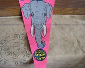 Vintage Ringling Bros. Barnum and Bailey Carnival Circus Pennant