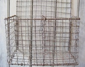 Early Crimped Wire Hanging  Basket On Hold for Akantqaddict until May 14th