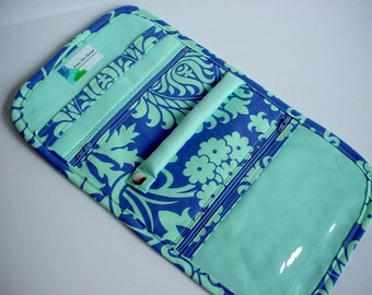 Travel Jewelry Pouch/Organizer in Amy Butler's Love Bali Gate Periwinkle