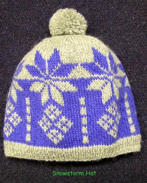 Easy Knitting Pattern-Fair Isle Pattern-Fair Isle Hat-Winter Hat ...