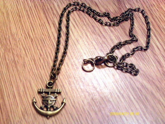 Pirate's Anchor Necklace / FREE SHIPPING In U.S.