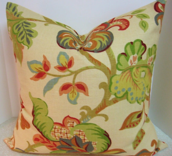 BOTH SIDES 20 x 20 Jacobean throw pillow cover