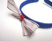 Red White Blue, Blue Headband, Blue and White Head Band, Hair Accessories