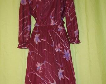 1960S Secretary Dress with pleated skirt