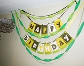 Happy Birthday Party Jungle Banner