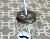 Pewter Mason Jar Daisy Drink Lids- Set of 36