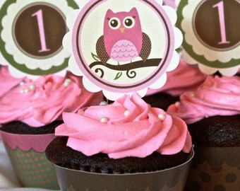 Girl Owl Birthday / Baby Shower- Complete Package- Printable DIY PDF Only