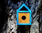 Burd-haus 20-05 Danish Modern Chalet Birdhouse in Robin's Egg