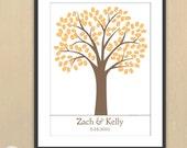 DIY Traditional Thumbprint Wedding Tree PDF -  18x24 - 150 signatures - Guestbook Keepsake Poster - Custom Colors