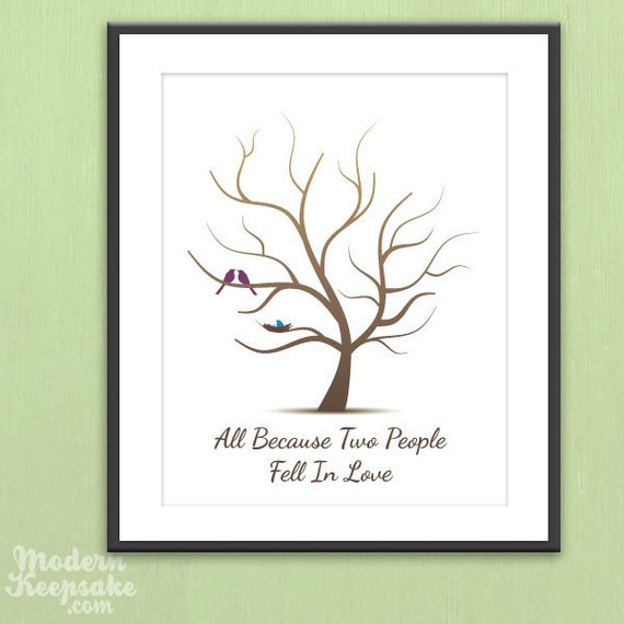 items similar to printable fingerprint baby shower tree thumb print