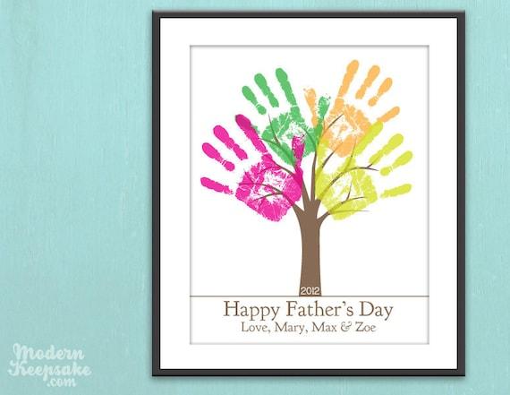 V ter tag druckbare geschenk diy kindes handabdruck von peachwik - Vatertagsgeschenke von kindern ...