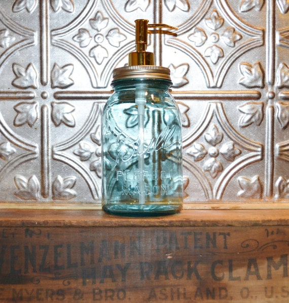 Mason Jar Soap Dispenser Blue Ball Perfect Mason Jar
