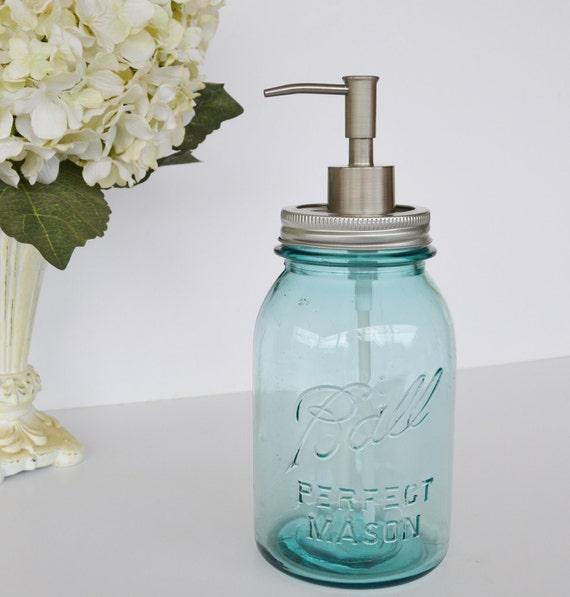 Mason Jar Soap Dispenser Blue Ball Mason Jar Soap Dispenser