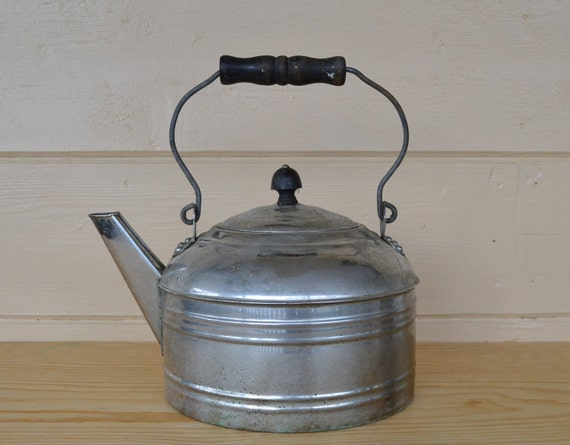 Tea Kettle Vintage Revere Aluminum Tea Kettle