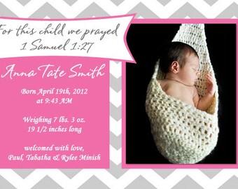 Birth Announcement.  Baby Birth Announcement. Photo Announcement. Birth Announcement Card. Birth Announcement Template. Photo Card.
