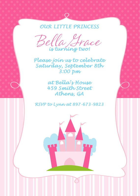 items similar to printable princess birthday party invitation on etsy, Birthday invitations